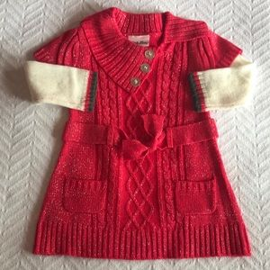 Size 18 mo. Sweater Dress with leggings